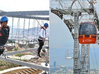 Teleférico de balcova y parque de aventuras.