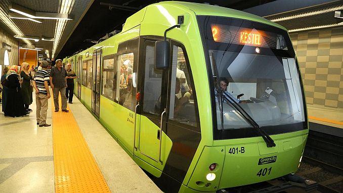 bursanin metro line length 1144 kmya
