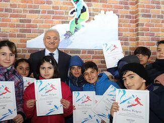 Erzincanda завершила лыжный курс, студенты получили сертификаты