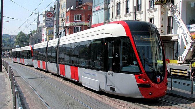 Kabatas Bagcilar Трамвайные остановки Guzergahi Сура