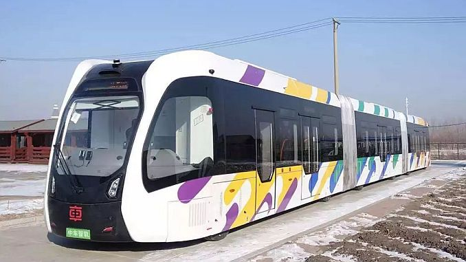 north elf first smart electric trolley bus completed