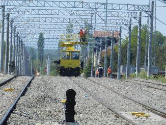 предупреждение о высоком напряжении на железной дороге Твддден Кутахья Балыкесир