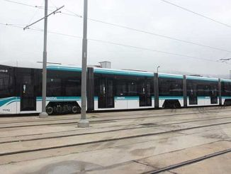 akcaray filosunu getiyor tramvay raylarda