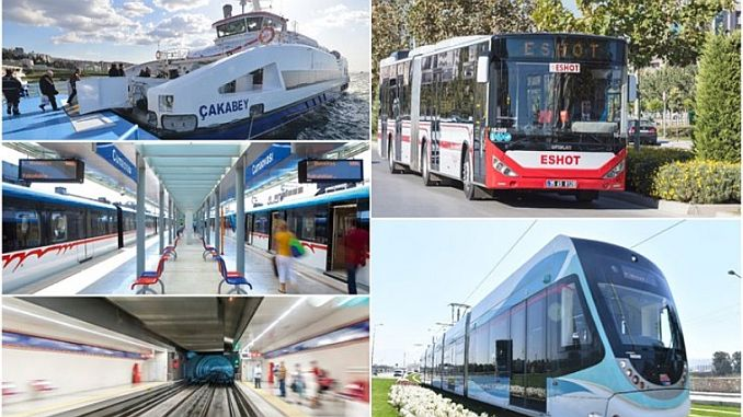 selection of mass transportation in izmir