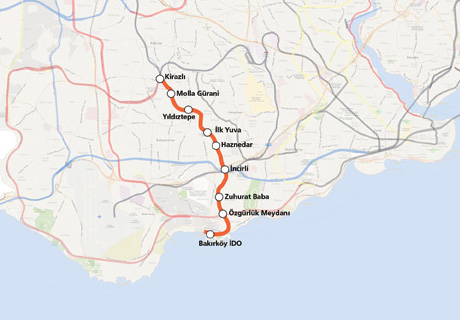 Kirazli bakirkoy ido subway line when urgent