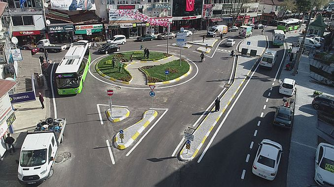kurucesme old junction was removed and replaced with a new donel junction