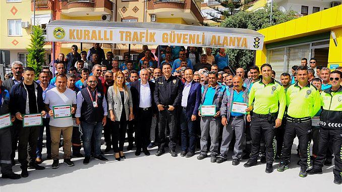 En realisering af trafikken i Alanya Kommunes personale
