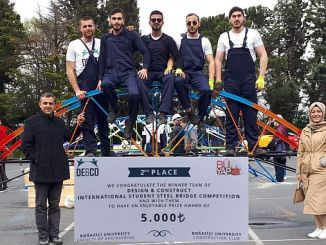 Bayburt University gokkafes bogazici steel bridge team was second in the race turkey