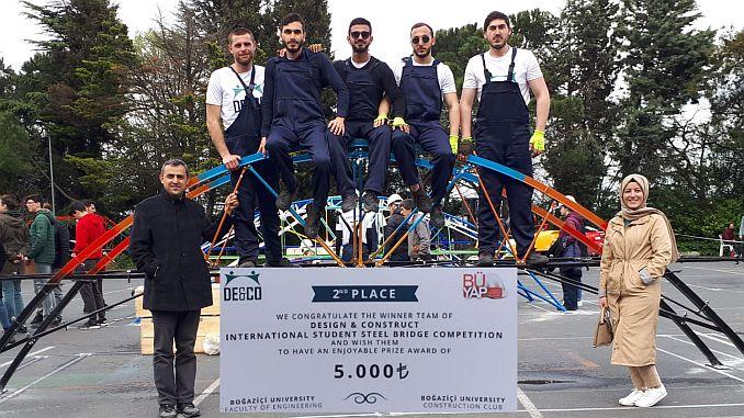 Bayburt University gokkafes bogazici steel bridge team was second in the race turkey
