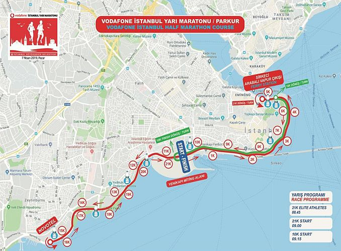 roads that are closed due to traffic in istanbul half marathon