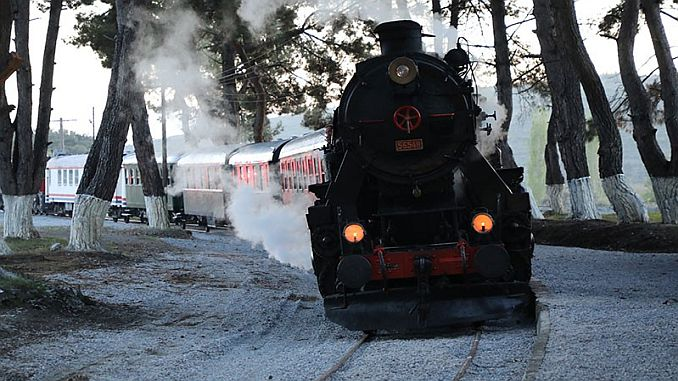 nostalgia steam train in Izmir