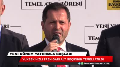 new yht gari subway in Konya was laid the foundation std original