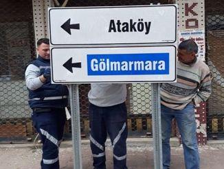 Manisa en Ahmetli provincia de Yon y signos renovados