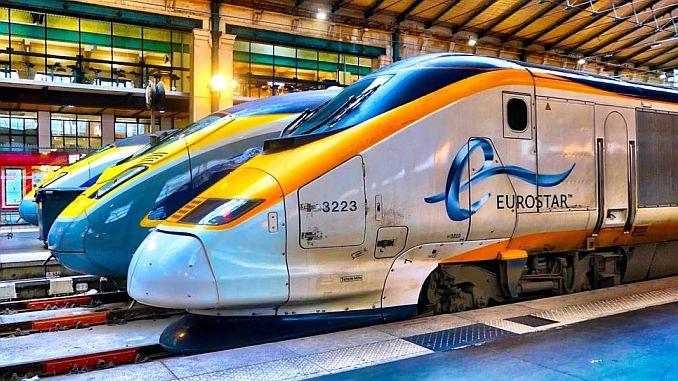 Hochgeschwindigkeitszug bemannt den Eurostar