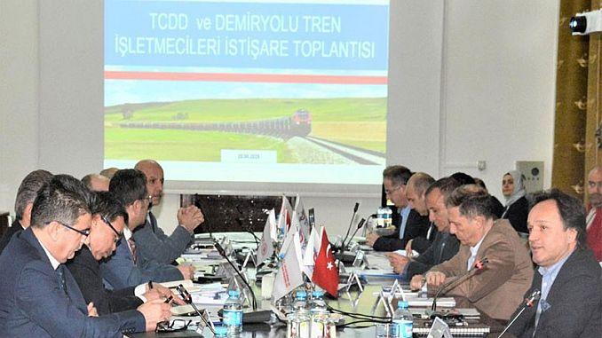 tcdd acoge reunión de operadores ferroviarios ferroviarios