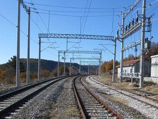 high voltage warning on tcddden balikesir railway line