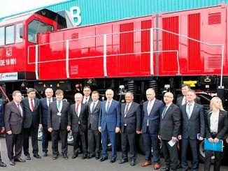 tulomsas brand at the national electric maneuvering locomotive