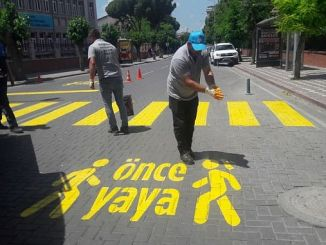 pedestrian practice before akhisarin roads