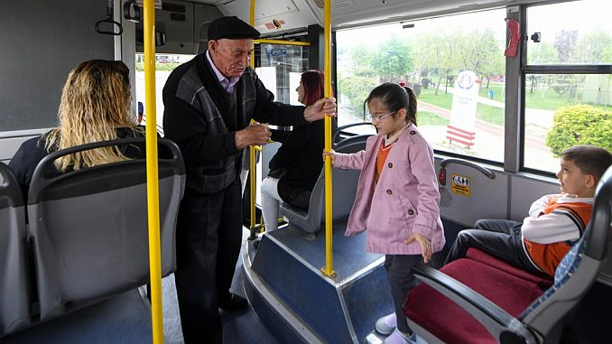 the ministry is an example in public transport vehicles