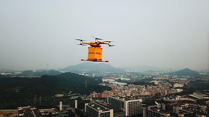 dhl cinde drone launches cargo shipment