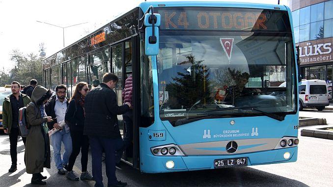 Erzurumda общественного транспорта часов Рамадан договоренности