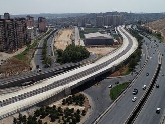 new traffic arrangement due to the work of the Gaziray project
