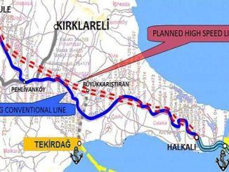 La licitación para la construcción del ferrocarril Halkali Kapikule no se finalizó