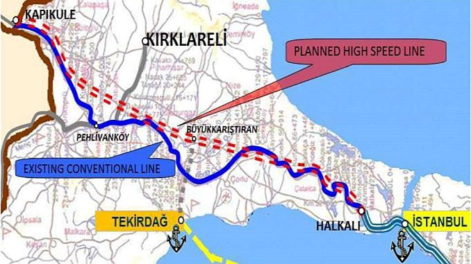 Halkali Kapikule railway construction tender was not finalized