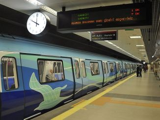 Рамазан duzenlemesi экспедиции метро в Стамбуле