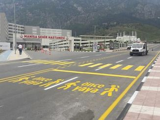 Manisa city hospital before pedestrian icon