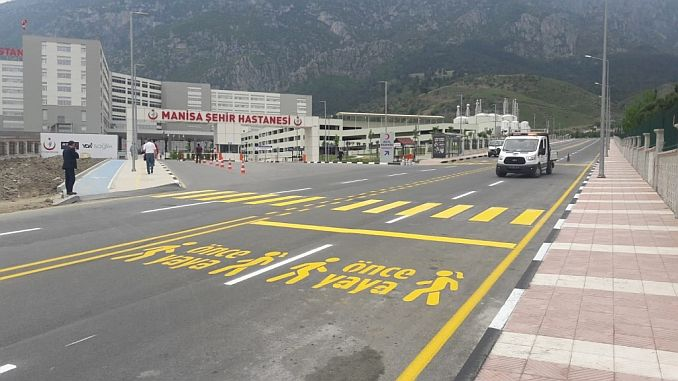 Manisa city hospital before pedestrian icon