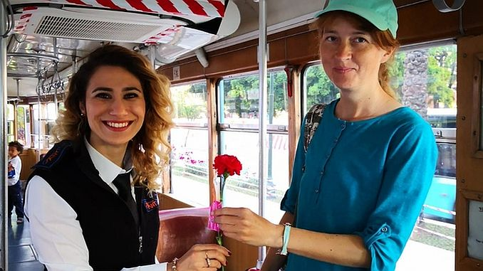 surprise for mothers in the nostalgic tram