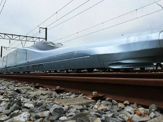 alpha x train running at km per hour began testing in japan
