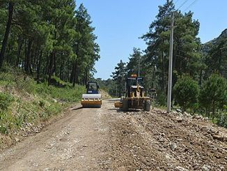 Refurbishment of broken roads in serik