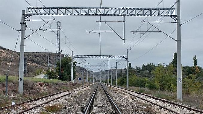 high voltage warning on tcddden balikesir railway