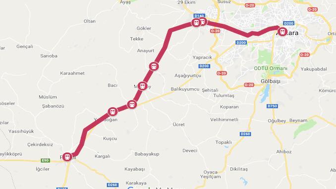 Karta över Ankara Polatli