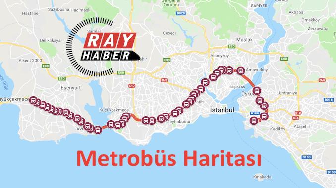 Istanbul metrobus kort