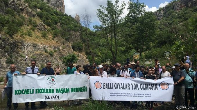 ballikayalar nature park, the night was organized for the highway project action