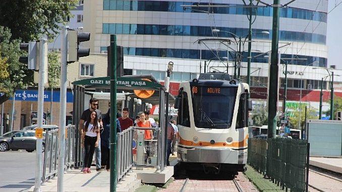Gaziantepte почивка трамвай и общински автобуси безплатно