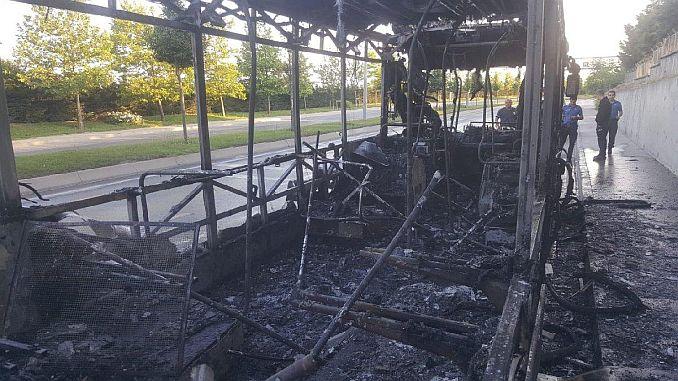 iett bus burned cayir cayir