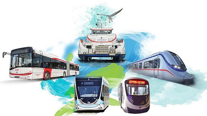 общественный транспорт на протяжении всего отпуска в Измире