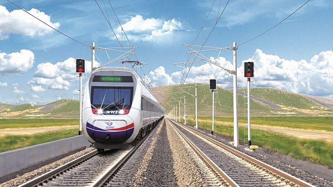 konya karaman high speed train line reached