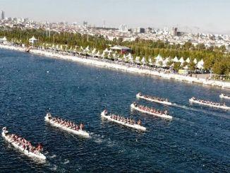 ibt интериор дракон лодка фестивал вълнение на Maltepe крайбрежие