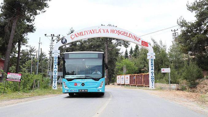 tarsus camliyayla entre el primer viaje en autobús desde la ciudad