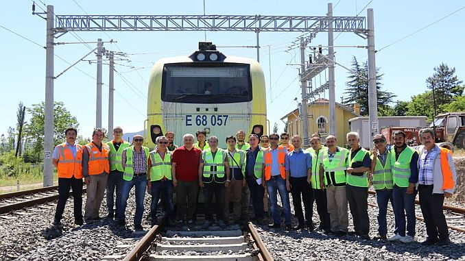 electrification tests started on the bunker balikesir railway line