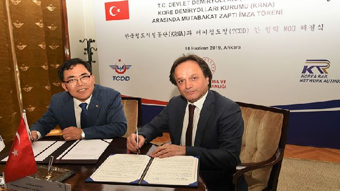 tcdd south korea railway memorandum of understanding signed