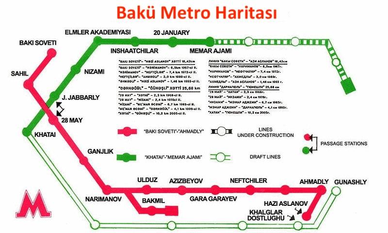 map of az baku metro