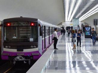 מפה של הרכבת התחתית של באקו