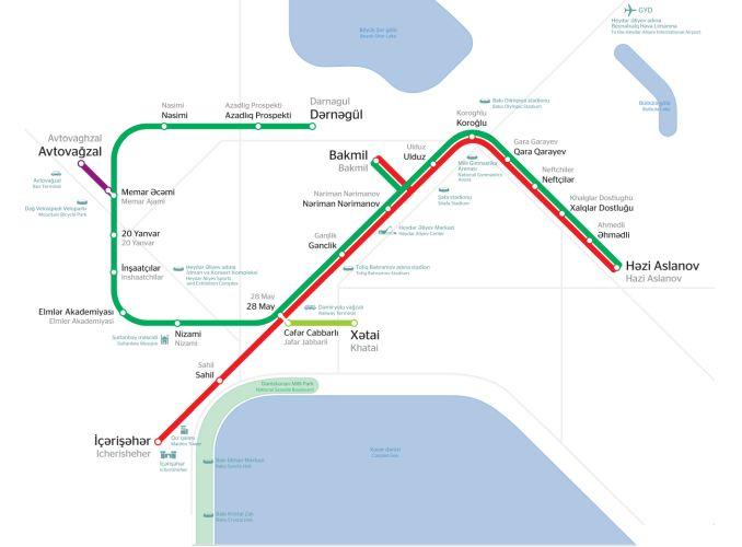 baku metro map
