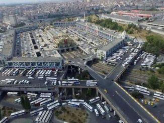 Estacionamiento de la estación de autobuses de Esenler en España